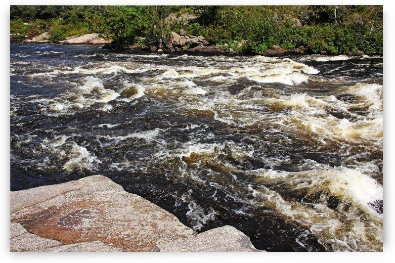 Turbulent Dalles Rapids by Deb Oppermann