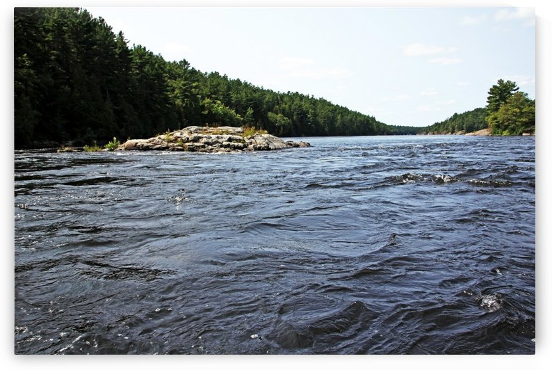 Flat Rapids French River I by Deb Oppermann