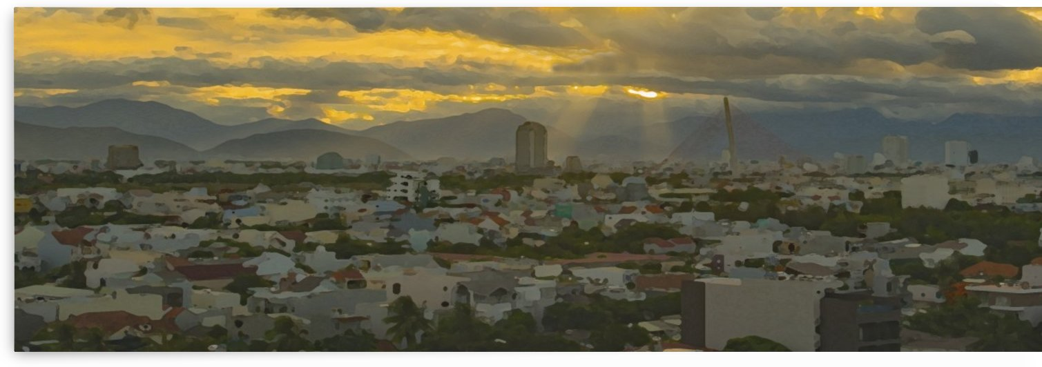 Danang Sunset in Digital Oil by Asia Visions Photography