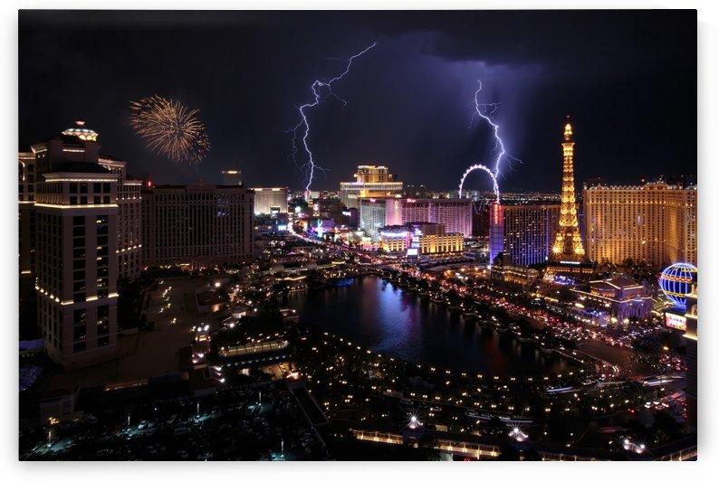 Las Vegas Double Strike Of Lightning by Melissa Dye