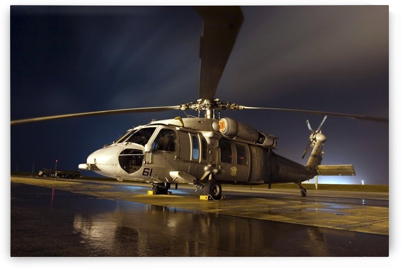 A U.S. Navy MH-60S Seahawk helicopter. by StocktrekImages