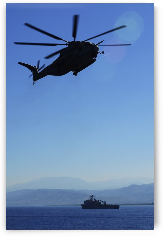 A CH-53E Super Stallion helicopter. by StocktrekImages