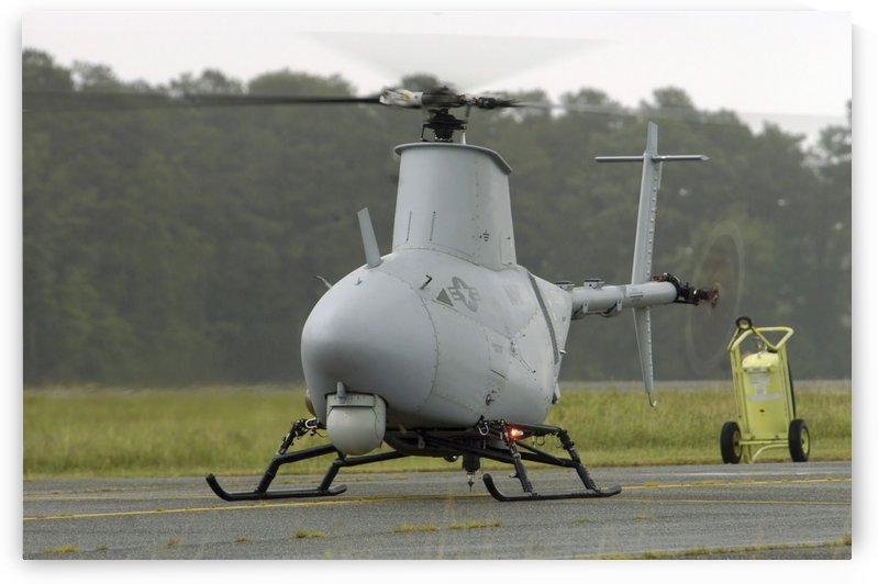 A RQ-8A Fire Scout unmanned aerial vehicle. by StocktrekImages