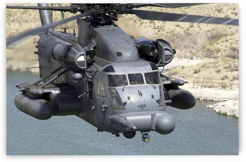 A MH-53J Pave Low IIIE heavy-lift helicopter. by StocktrekImages