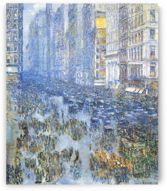 Fifth Avenue by Hassam by Hassam