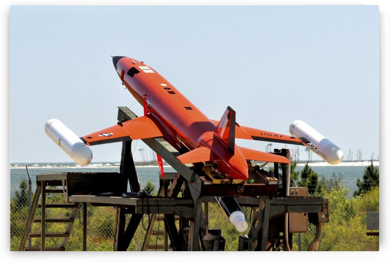 A BQM-167A Subscale Aerial Target is ready for launch. by StocktrekImages