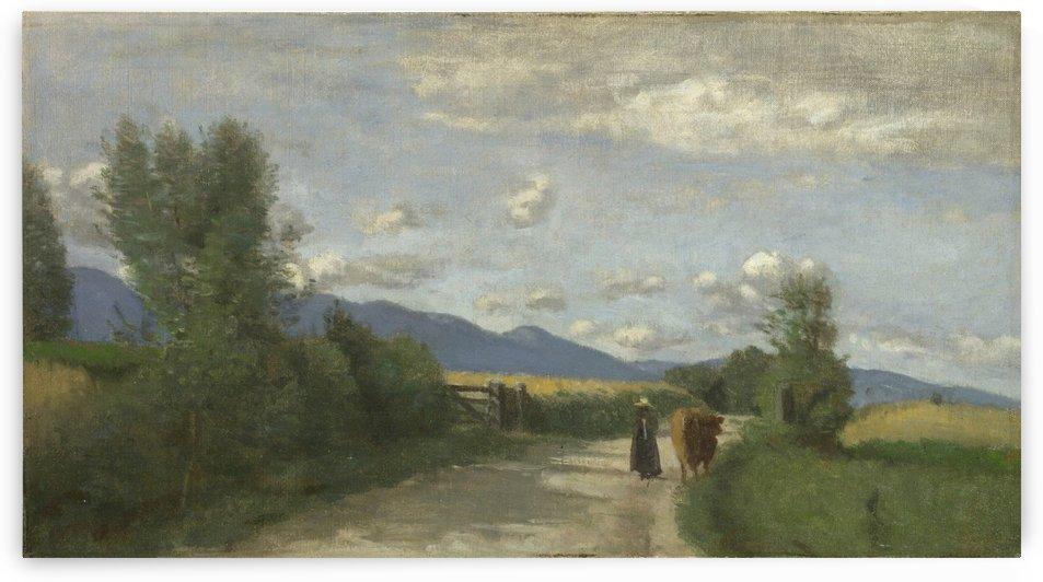 Dardagny, Morning by Jean-Baptiste-Camille Corot