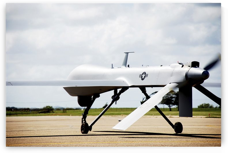 An RQ-1 Predator prepares for takeoff. by StocktrekImages