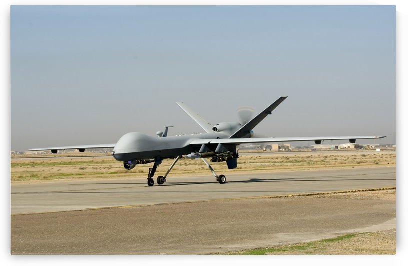 A U.S. Air Force MQ-9 Reaper unmanned aerial vehicle. by StocktrekImages