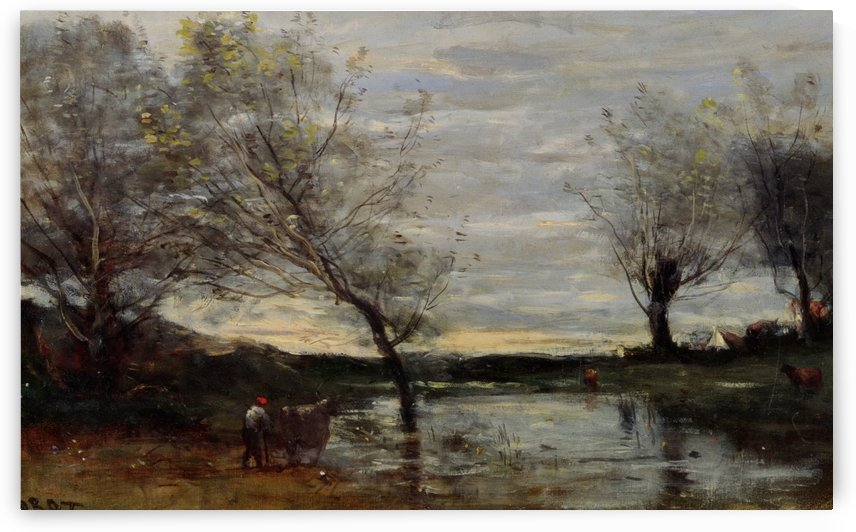 Avignon from the West by Jean-Baptiste-Camille Corot