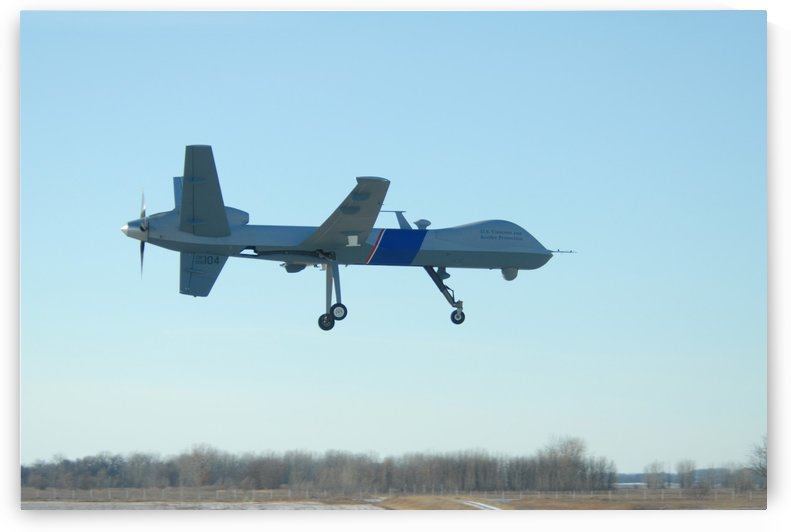A U.S. Customs and Border Protection MQ-9 Reaper UAV. by StocktrekImages