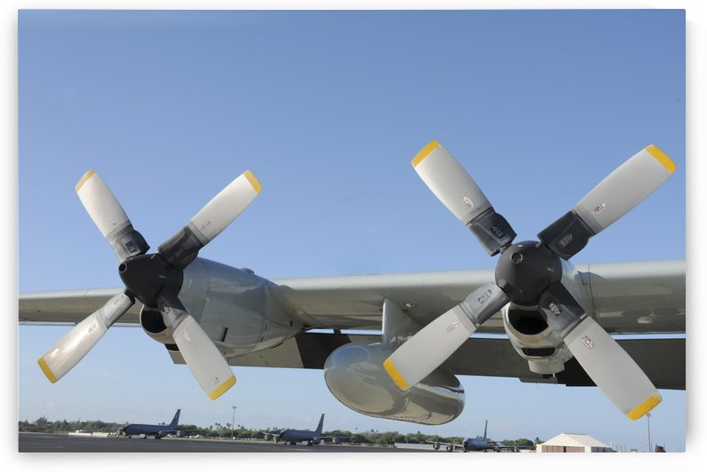 The wings of an LC-130 Hercules. by StocktrekImages