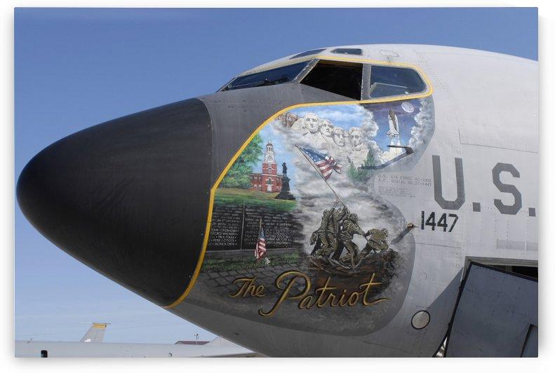A KC-135 Stratotankerdisplaying patriotic nose art. by StocktrekImages