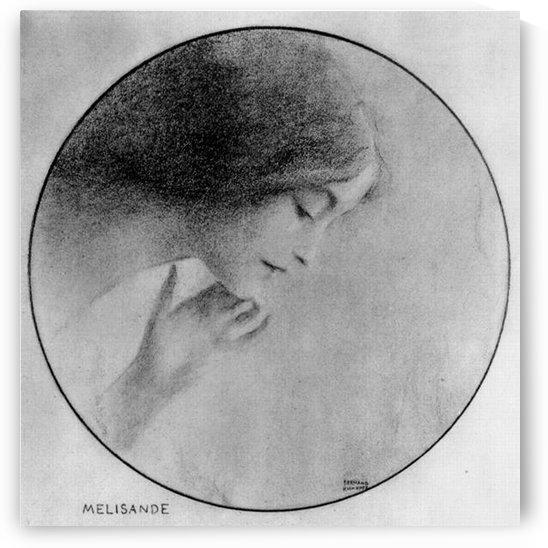 Melisande by Fernand Khnopff by Fernand Khnopff