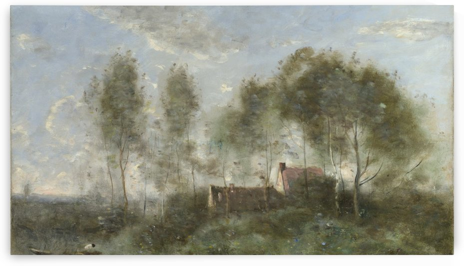 Souvenir of a Journey to Coubron by Jean-Baptiste-Camille Corot