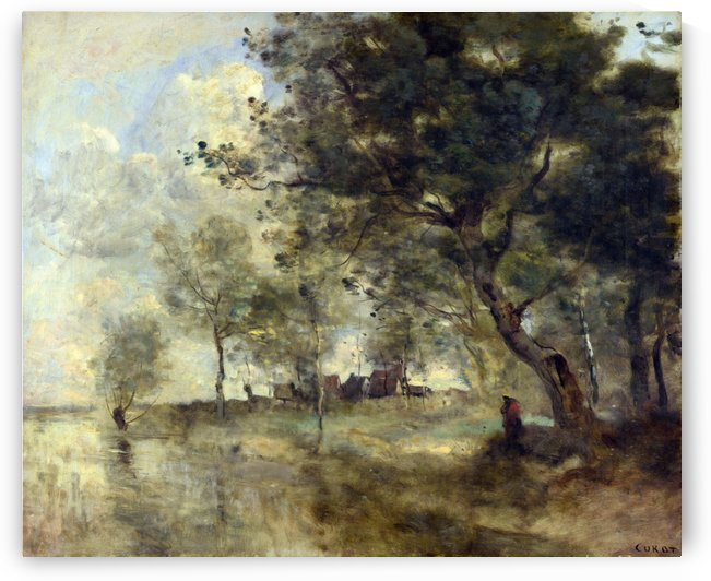 A Flood by Jean-Baptiste-Camille Corot