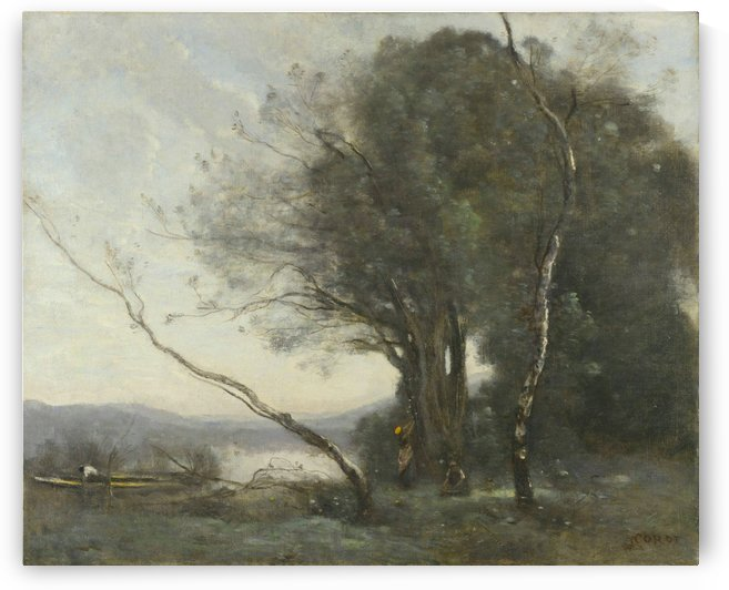 The Leaning Tree Trunk by Jean-Baptiste-Camille Corot