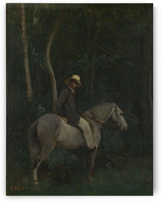 Monsieur Pivot on Horseback by Jean-Baptiste-Camille Corot