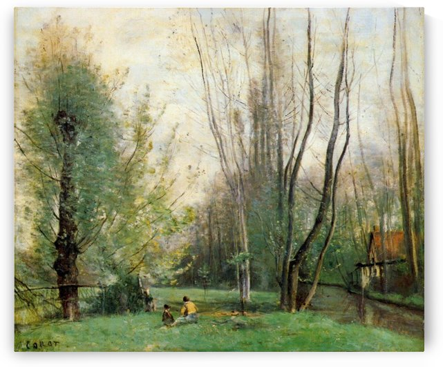 Summer Morning by Jean-Baptiste-Camille Corot