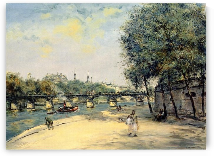 The Istitute of France and the Bridge of Arts by Jean-Francois Raffaelli