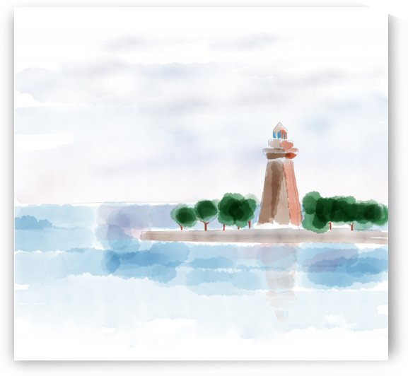 lighthouse scene by Krit of Studio OMG