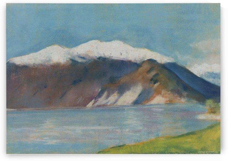Lake Garda and Monte Baldo by Lesser Ury