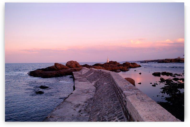 Ahtopol Pier at Sunset by Kikkia Jackson