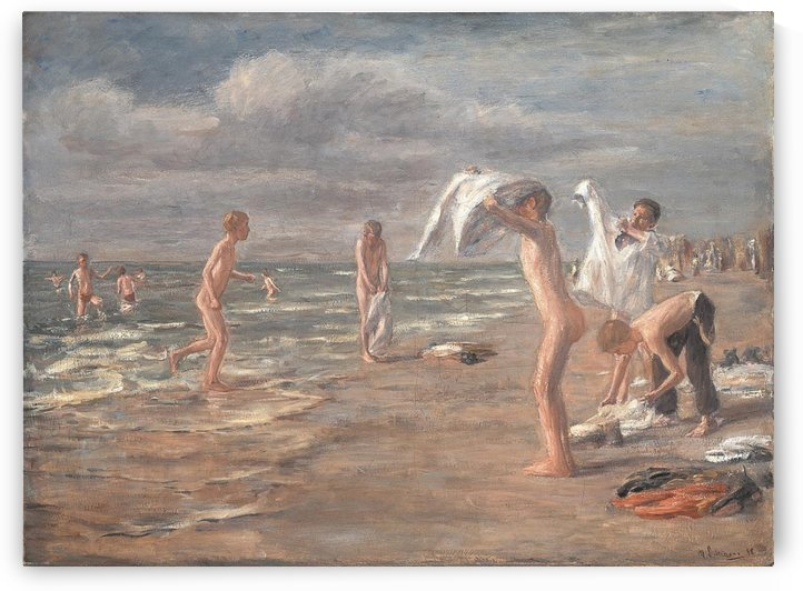 Boys Bathing by Max Liebermann