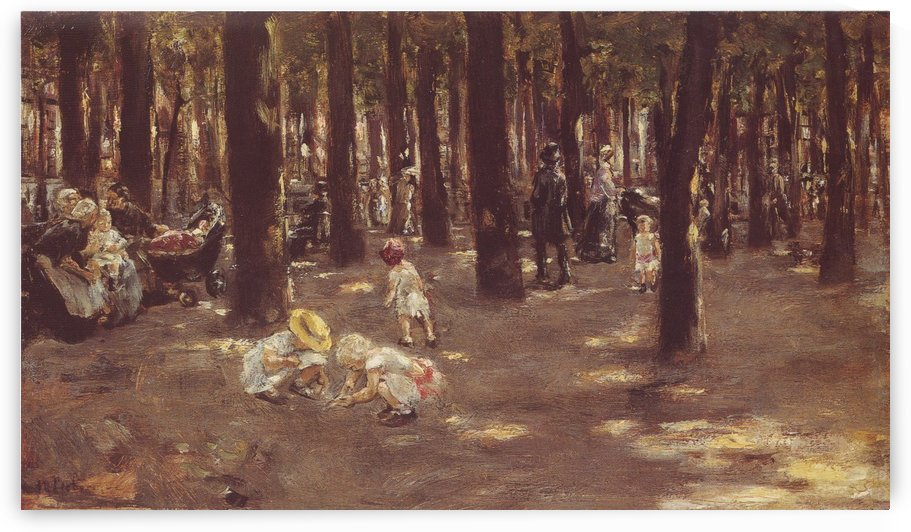 Scene at the Park by Max Liebermann