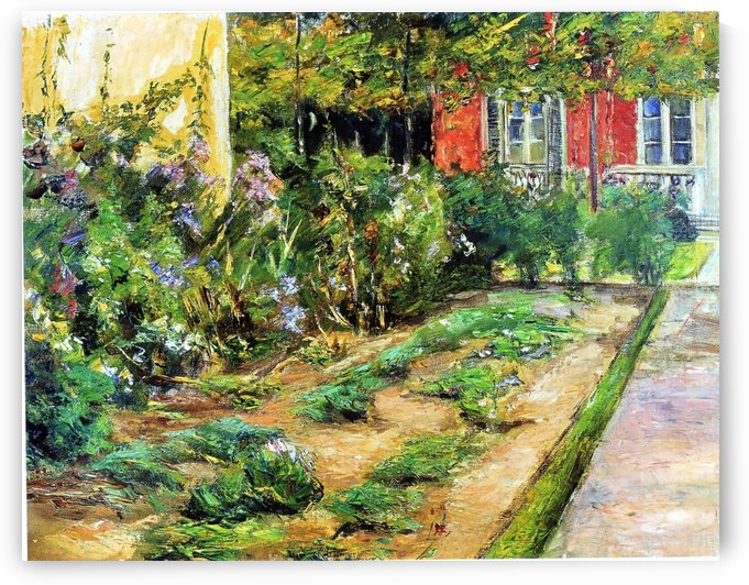 Flower Shrubs in Wannsee Garden by Max Liebermann
