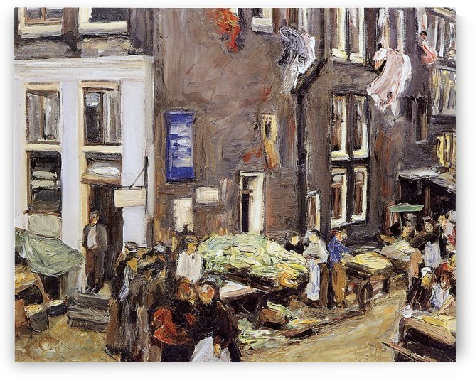 Jewish Quarter in Amsterdam by Max Liebermann