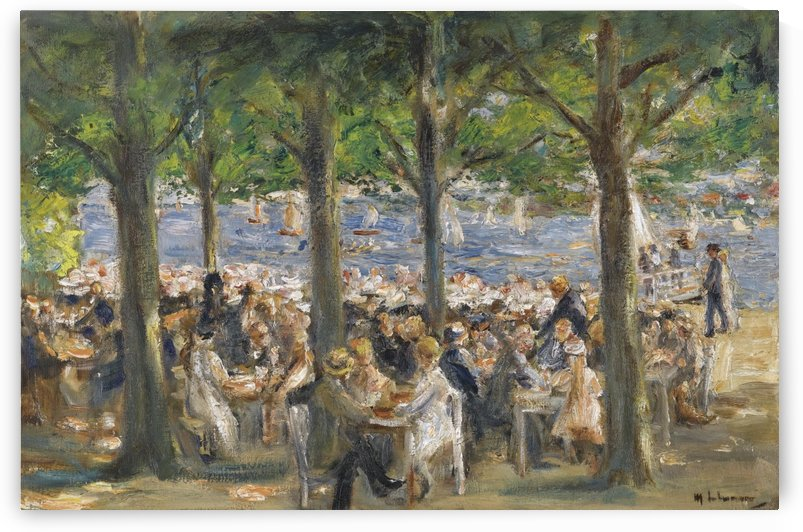 Beer Garden near the Havel under the Trees by Max Liebermann