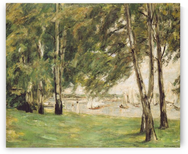 The Garden in Wannsee to the West by Max Liebermann
