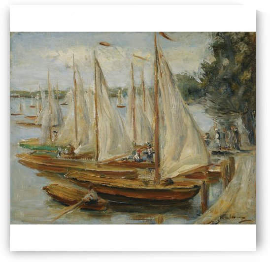 Sailing Boats on Wannsee Lake by Max Liebermann