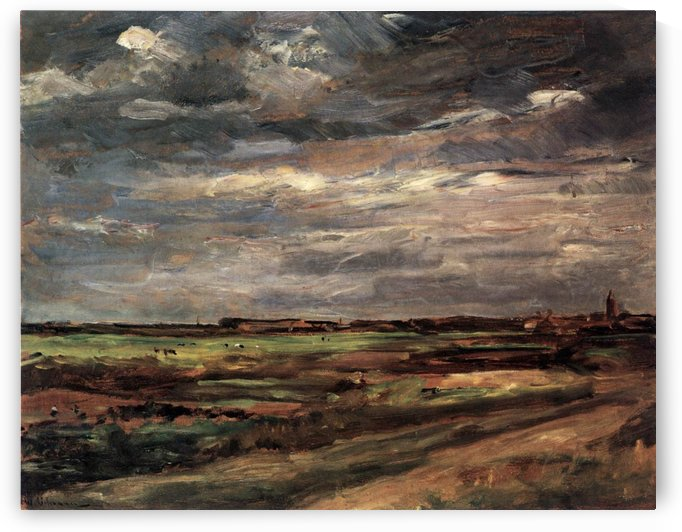 Dune near Nordwijk with Child by Max Liebermann