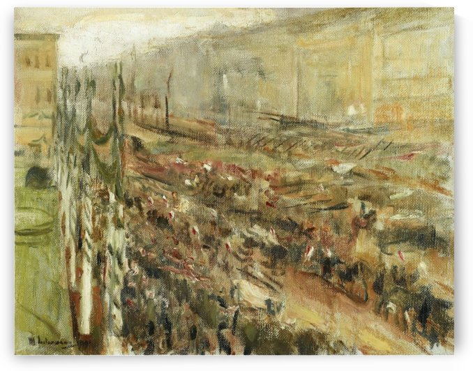 Entrance of the Troops into Pariser Platz by Max Liebermann