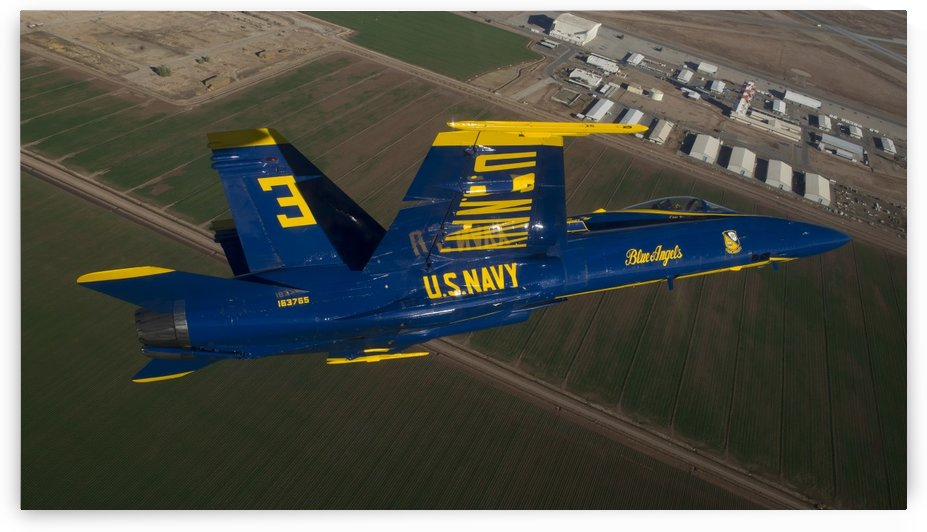 The Blue Angels perform over El Centro California. by StocktrekImages