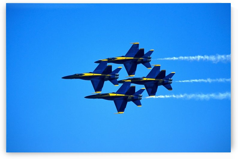 Blue Angels flying in formation by StocktrekImages