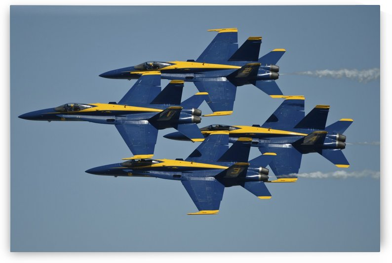 The U.S. Navy flight demonstration squadron the Blue Angels. by StocktrekImages