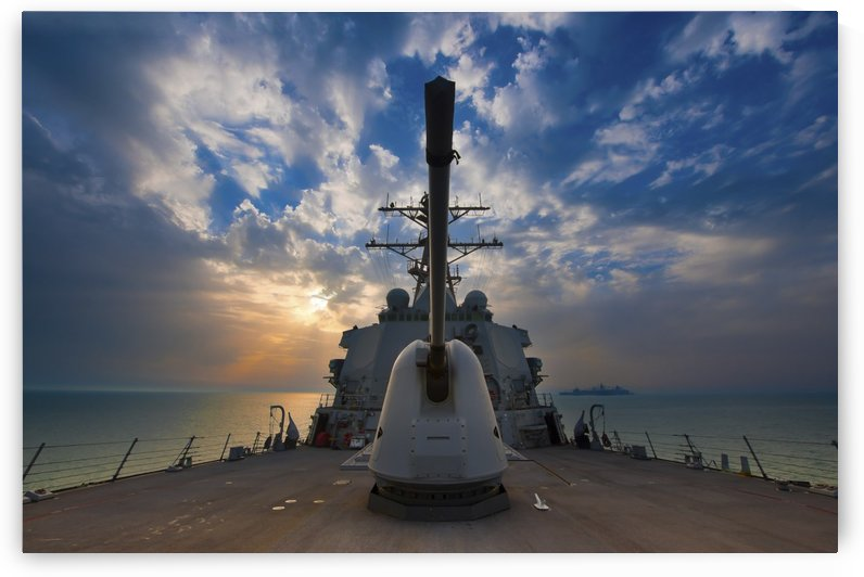 Guided-missile destroyer USS Higgins. by StocktrekImages