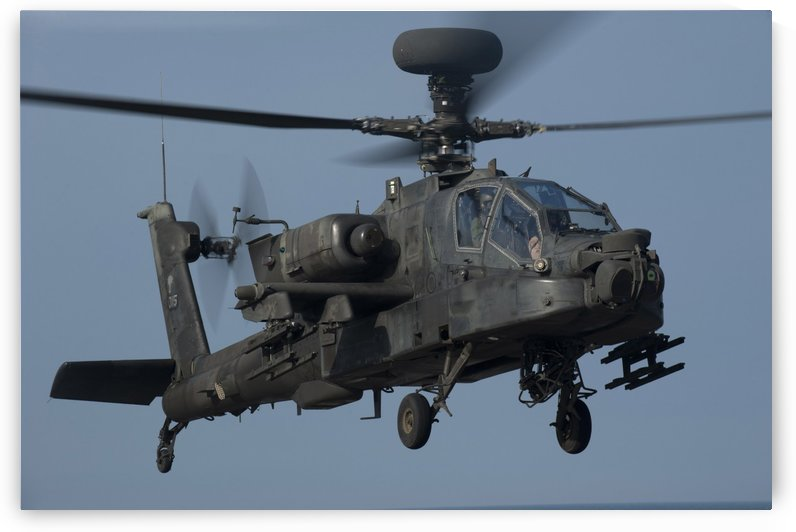 A U.S. Army AH-64 Apache helicopter. by StocktrekImages