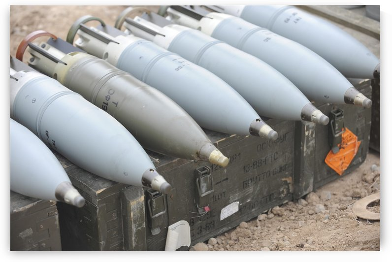 Ammunition for Iraqi T-72 tanks. by StocktrekImages