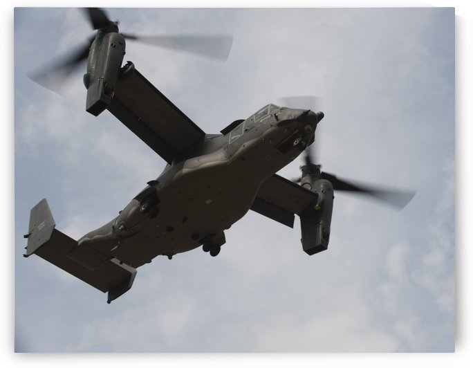 A U.S. Air Force CV-22 Osprey tiltrotor aircraft. by StocktrekImages