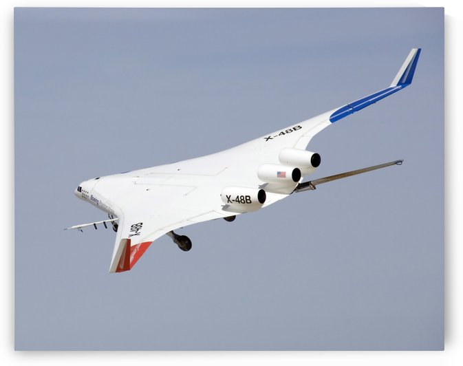X-48B Blended Wing Body in flight. by StocktrekImages