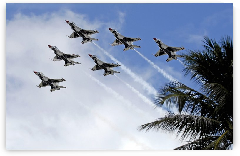 The Air Force Thunderbirds demonstration team. by StocktrekImages