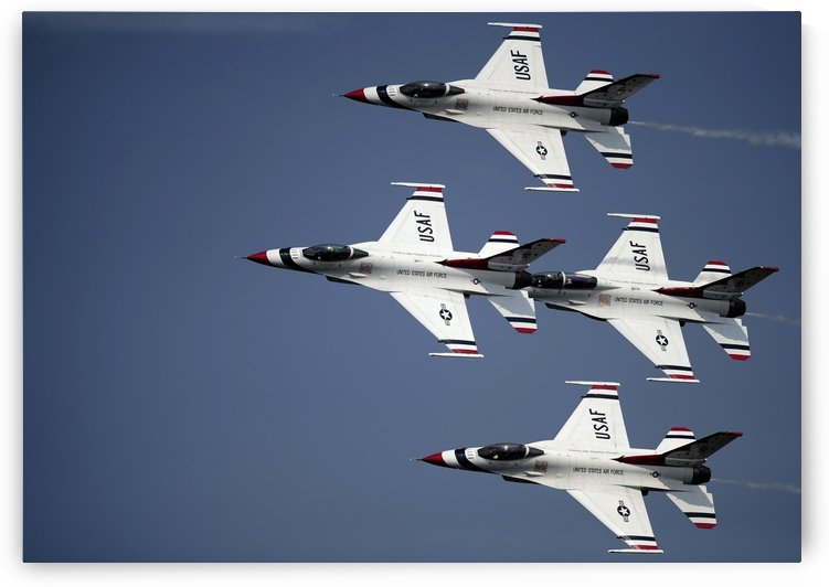 The U.S. Air Force Thunderbird demonstration team. by StocktrekImages