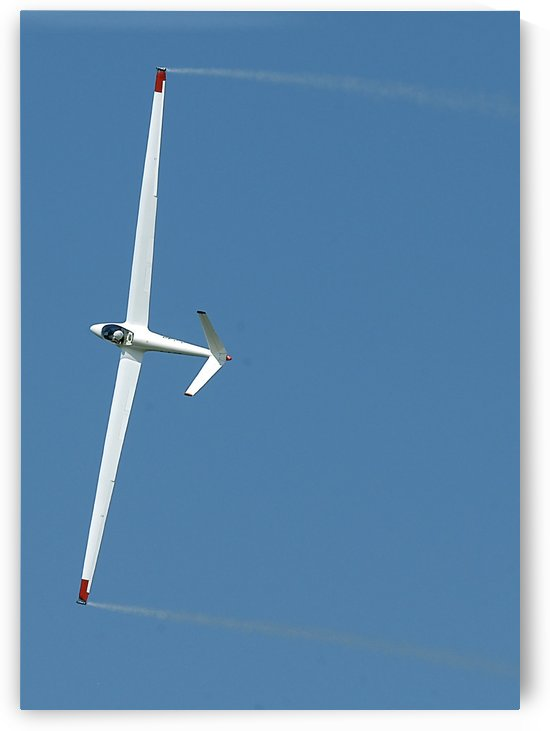 A sailplane glider during the 2007 Naval Air Station Oceana Air Show. by StocktrekImages