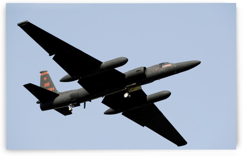 A U-2 Dragon Lady takes off from Osan Air Base South Korea. by StocktrekImages