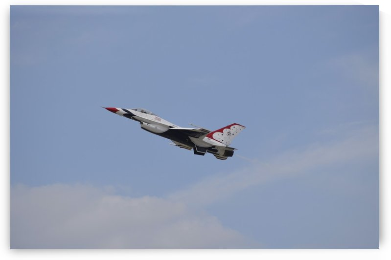 An F-16 of the United States Air Force Thunderbirds. by StocktrekImages
