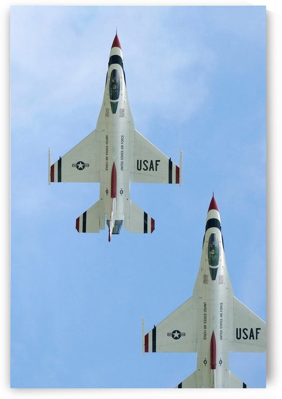 The United States Air Force Demonstration Team Thunderbirds by StocktrekImages